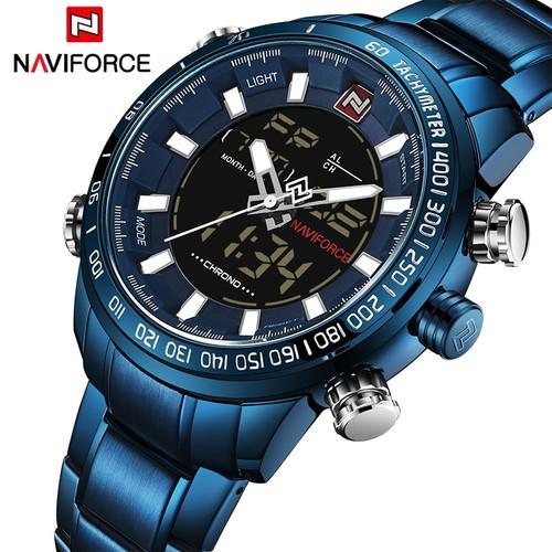 2018 Men Watches Luxury Brand NAVIFORCE Army Military Sport Watch Men Full Steel Quartz Digital Analog Clock Relogio Masculino