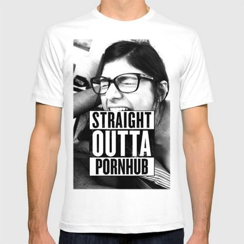 Mia Khalifa Straight Outta New Fashion Men's T-shirts Cotton T Shirts Man Clothing Wholesale