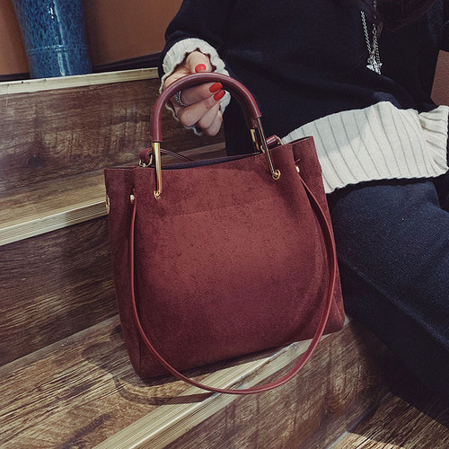2019 Vintage Women's Bag Shoulder Female Luxury Suede Leather Messenger Bag Women's Crossbody Ladies Hand Bags for Women sac