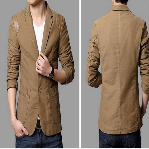 VXO   men's  Casual Slim Fit Blazer Leather Patchwork Plus Size Suits Jacket Men Fighting leather  Blazers