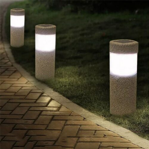 Outdoor LED Solar Lights Lawn Lights Waterproof Lighting Cordless Solar Powered LED Garden lamp Light-operated Sand Blast Lamp