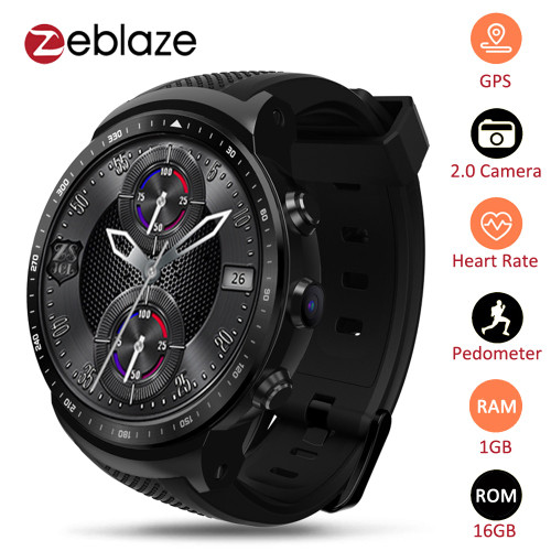 Zeblaze Thor PRO 3G GPS WIFI Smartwatch Android 5.1 MTK6580 Quad Core 1GB 16GB 2.0 MP Camera Heart Rate Monitor Smart Watch