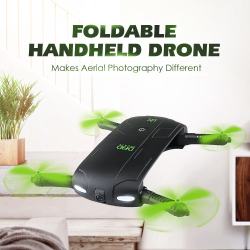DHD D5 Selfie Drone With Wifi FPV HD Camera Foldable Pocket RC Drones Phone Control Helicopter VS JJRC H37 T47 H49 Drone