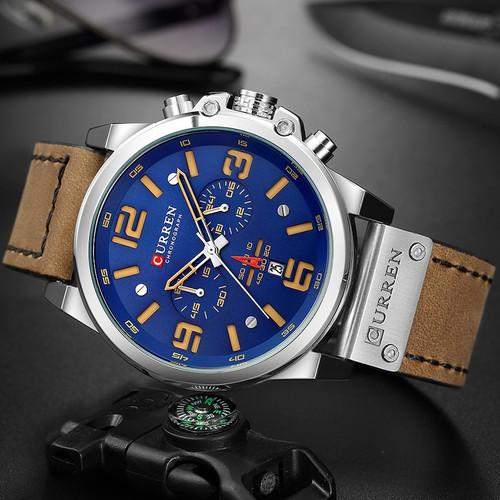 Top Brand Luxury CURREN 8314 Fashion Leather Strap Quartz Men Watches Casual Date Business Male Wristwatches Clock Montre Homme