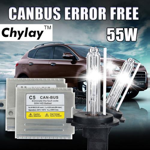 Xenon H7 Canbus HID Kit D2S H1 H4 H11 H3 HB4 9005 9006 xenon bulb For Car Headlight AC 55W Silm HID Ballast 4300K 6000K 8000K