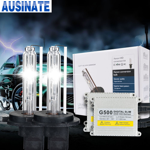 Xenon H7 G500 55W AC Lamp Bulb hid kit H1 H3 H4 H7 H11 9005 9006 4300K 5000k 6000K 8000K HID Lamp Xenon Bulb