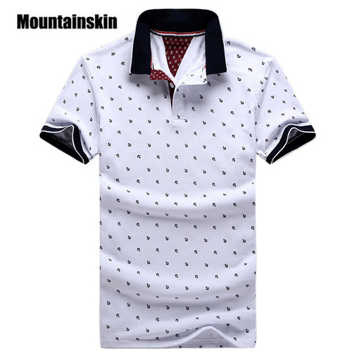 New Brand Polos Mens Printed POLO Shirts 100% Cotton Short Sleeve Camisas Polo Casual Stand Collar Male Polo Shirt 4XL EDA234