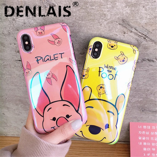 Cute Pig Bear Cartoon Case For Samsung Galaxy S9 S8 Plus Case Glossy Silicone Soft Phone Cases For Samsung S8 Plus S9 Note 8/9