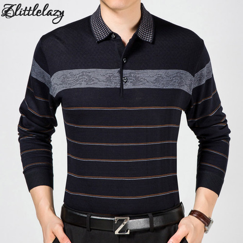 2018 casual long sleeve business mens shirts male striped fashion brand polo shirt designer men tenis polos camisa social 5158