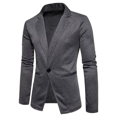Men suit coat Blazer masculino 2018 autumn new Men jacket knit shirt men's one button solid color small suit blazers Europe size