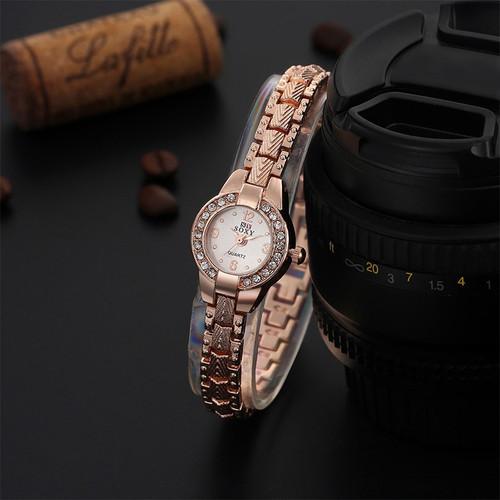 Hot Sale Luxury Rose Gold Watch Fashion Bracelet Watch Women Elegant Rhinestone Quartz Watch Ladies Watches Relogio Feminino