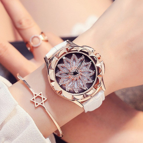 Relogio Feminino Hot Rose Gold Watches Woman Watch Leather Bracelet Quartz Watch Ladies Waterproof Clock Top Brand Luxury Table