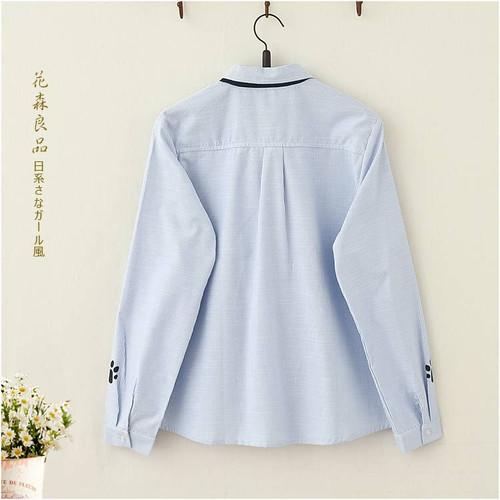 Fashion Pink Blue Plus Size Long Sleeve Turn-down Collar Formal Elegant Ladies Female Shirt Ladies tops school blouse A308