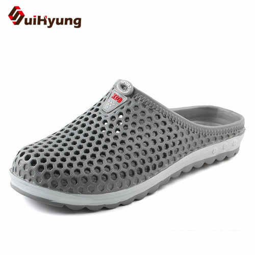 Suihyung 2018 New Men Summer Shoes Breathable Mesh Hole Beach Slippers Non-slip Home Bathroom Flip Flops Casual Sandals Slides