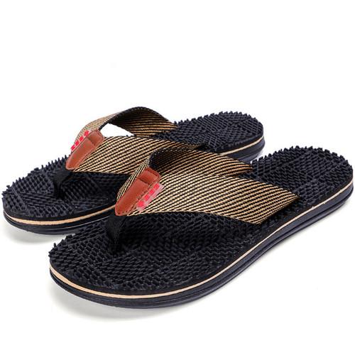 Men Slippers Summer Flat 2018 Summer Men Shoes Breathable Beach Slippers Wedge Black White Flip Flops Men Brand Slides Slippers