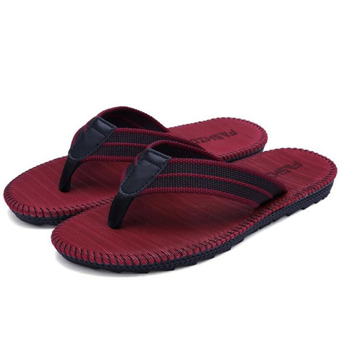 Plus Size 39-45 Summer Men's Slippers 2018 New Casual Beach Sandals Shoes Soft Flax 4 Colrs Males Flip Flops