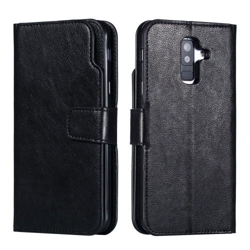 Leather case For Samsung Galaxy A8 A6 Plus A7 2018 Case Cover Wallet Magnet Flip Phone cases For Samsung Galaxy J4 J6 Plus Case
