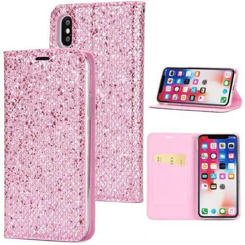 Glitter Flip Wallet Phone Case For iPhone Xs Max 8 7 iphoneXR Card Holder Stand PU Leather Cover For iphone 6 s 6S 7 8 Plus Case