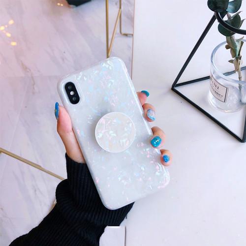 Mr.orange Bling foils Sequins case for iphone X XS 7 7Plus 6 6s 6Plus 6splus 8 8plus Expanding Stand holder design soft cover