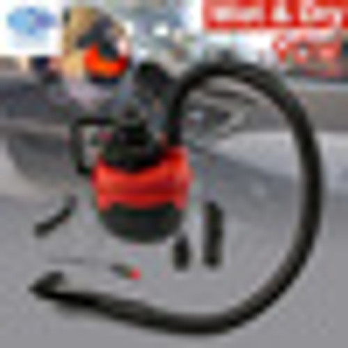 90W DC 12V  Portable Wet Dry Canister Outdoor Carpet Car Boat Mini Vacuum Cleaner Air Inflating Pump Red