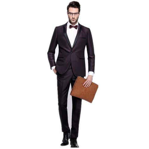 Men's wedding suits fashion pure color mens wedding suits fashion handsome cultivate one's morality mens suits(jacket+pants