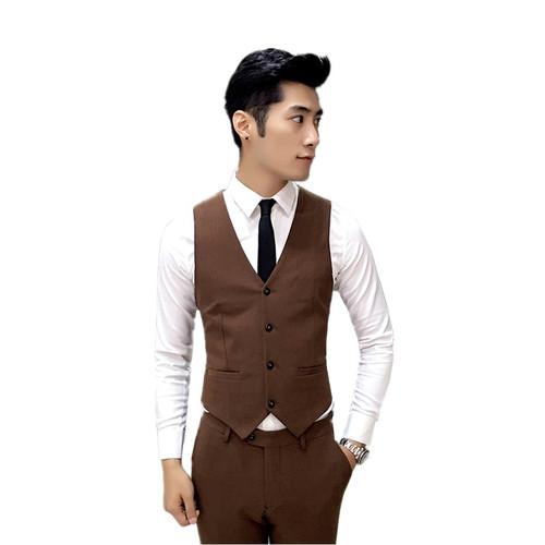 MOGU Three Piece Men Suit 2017 Spring New Business Men Costume Fashion Pure Color Men's Clothing Slim Fit Asian Size Men's Suit