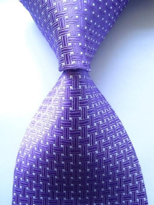 Fashion Classic Solid Striped Plaid Square Mix Color JACQUARD WOVEN Silk Men's Business Tie Necktie