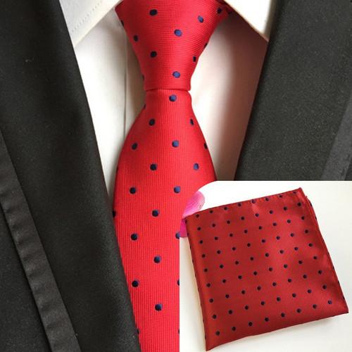 (10 pcs/lot) Wholesale Men's100% Silk Tie Set (Neck ties Handkerchief) Necktie Pocket Square Hanky Wedding Party Banquet Suit