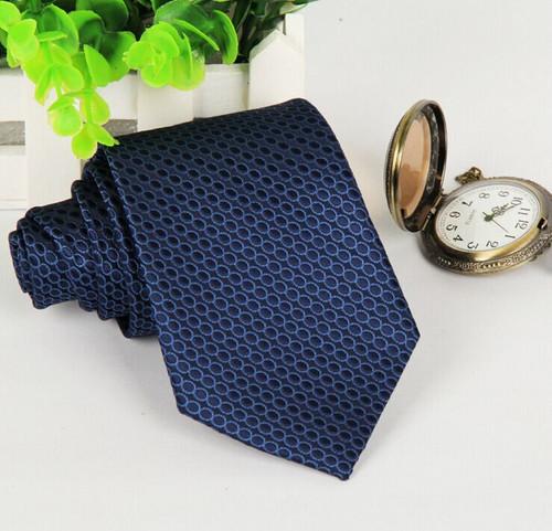 mens ties 2016 navy blue polka dot neckties 8 cm formal gravatas jacquard woven silk cravates evening wear wedding dress lote