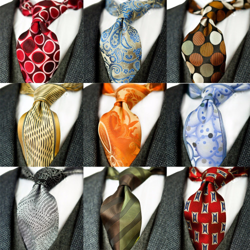 Unique Multicolor Paisley Floral Checked Stripes Dots Mens Ties Neckties 100% Silk Jacquard Woven Classy Handmade Brand New