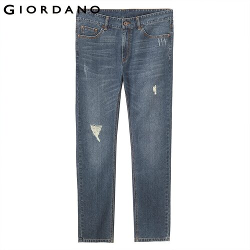 Giordano Men Jeans Men Distressed Fashion Denim Jeans Men Slim Fit Denim Pants For Men Calca jeans Masculina Pantalones Hombre