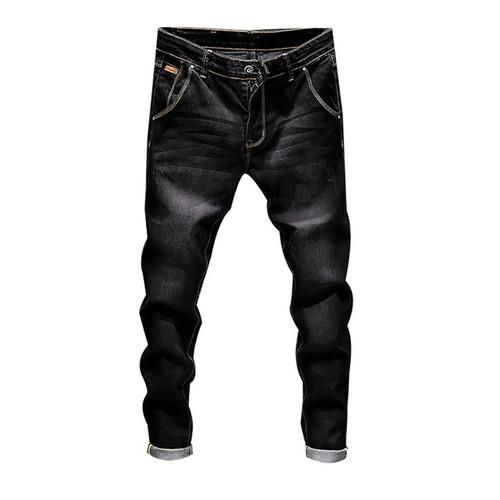 Laamei Fashion Skinny Jeans Mens Straight Dark Blue 2018 New Printed Mens Casual Biker Denim Jean Male Stretch Trouser Pants