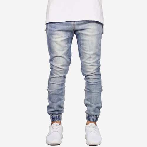 LLYGE Hip Hop Spring Stretch Denim Jeans Men Ripped Full Casual Slim Streetwear Male Trousers 2019 Skinny Joggers Jeans For Mens