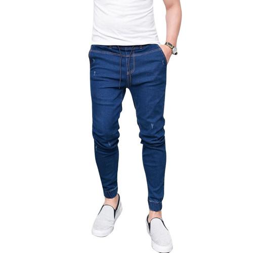 NIBESSER 2018 Harem Jeans Men Casual Washed Shinny Denim Jeans Male Fashion Ripped Hip Hop Sportswear Pencil Pants Plus Size 3XL