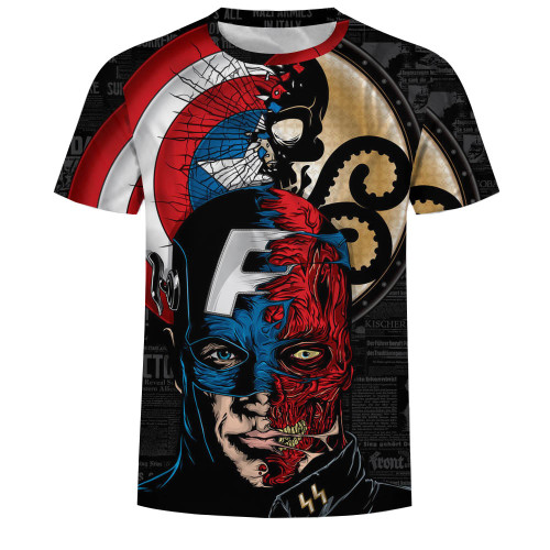 New MMA Fitness Compression Shirt Men Short-sleeved 3D Superman T-shirt Superheroes Captain America Brand Clothing Marvel T-shir