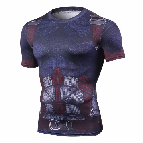 2018 Movie Avengers 3 Infinity War Captain America 3D Printed T shirts Superhero Cosplay T Shirts Mens compression fitness Tops