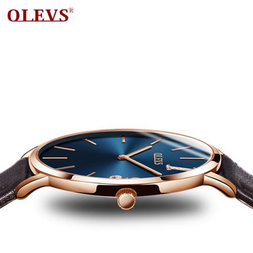 OLEVS fashion female watch woman luxury brand 2018 ladies watch uhren damen kol saati Clock Leather Rose gold Ladies Wrist watch
