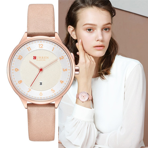 CURREN Brand Luxury Women Watches 2018 Ladies Wristwatch Ultra thin Quartz Leather Watch Woman Rose Gold Clock Relogio Feminino