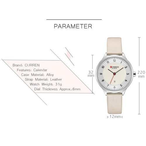 CURREN Brand Luxury Women Watches 2018 Ladies Wristwatch Ultra thin Quartz Leather Watch Woman Rose Gold Clock Relogio Feminino