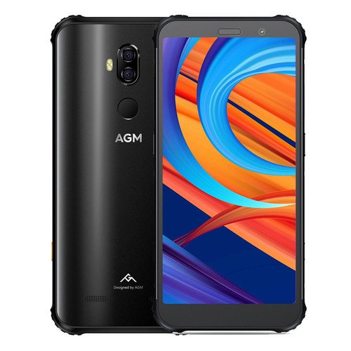 "AGM X3 IP68 Waterproof Mobile Phone 5.99""HD 6GB RAM 64GB ROM Qualcomm SDM845 Octa-core Fingerprint Type-C Wireless Charging"