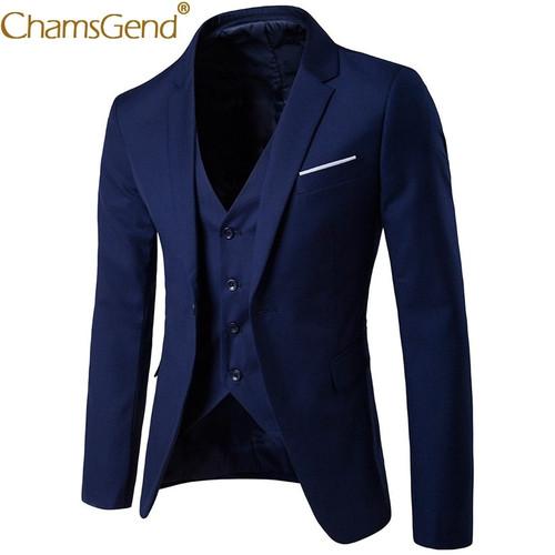 Newly Design 3-Pieces Men Blazer Suit Set Man Male Tuxedo Trouses Pants Men Slim Fit Formal Suits For Wedding Party 81101