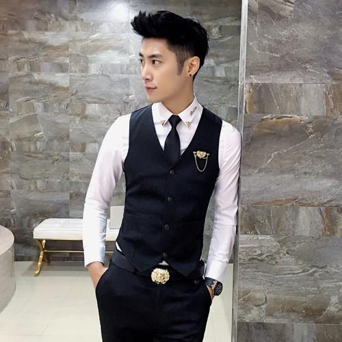 Autumn New Jacquard Men's Formal Suit 3 Piece Sets (suit Jacket + Vest + Pants) Business Wedding Party Men Blazer Set S-3XL
