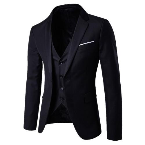 Chamsgend NEW Mens Fashion Blazer Men's Slim Fit 3-Piece Suit Blazer Business Wedding Party Jacket Vest Pants male Blazers  #40*