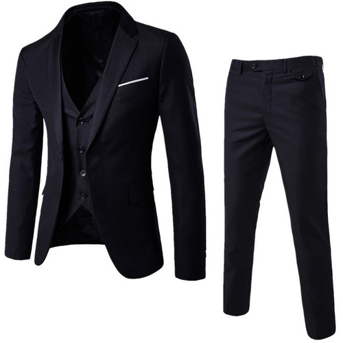 Puimentiua Slim Suit Men Male Suits Business Formal Dress Blazer Wedding Office Pants Set costume homme 3 pieces costume homme