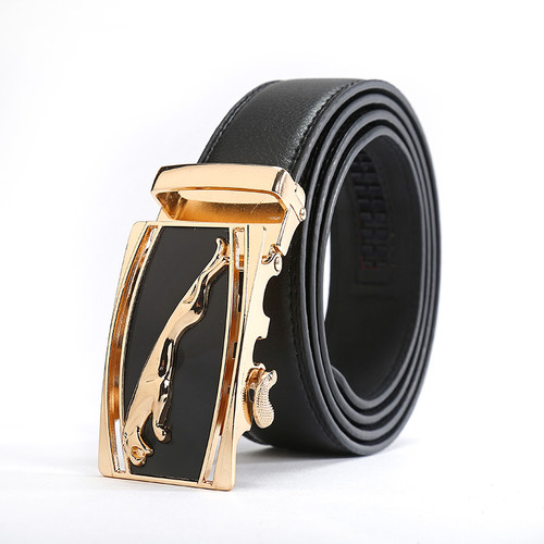 Jaguar Designers Luxury Cowhide Brand Genuine Leather Automatic Buckle Belts for Mens High Quality Male Cowskin Ceinture Homme