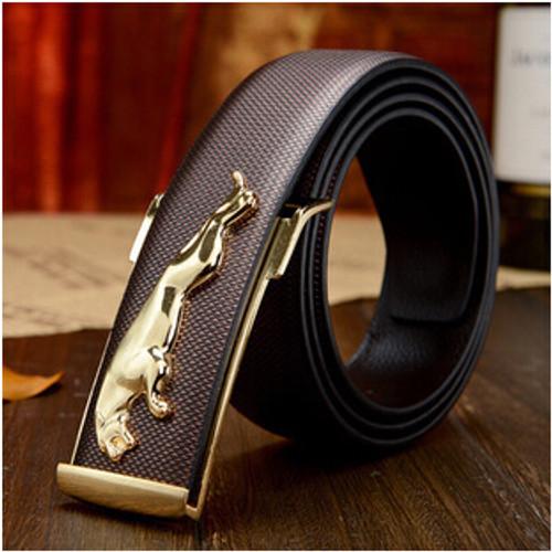 high-end men's leather belt Jaguar British fashion new men casual leather belt buckle Quality men business leather pant belts