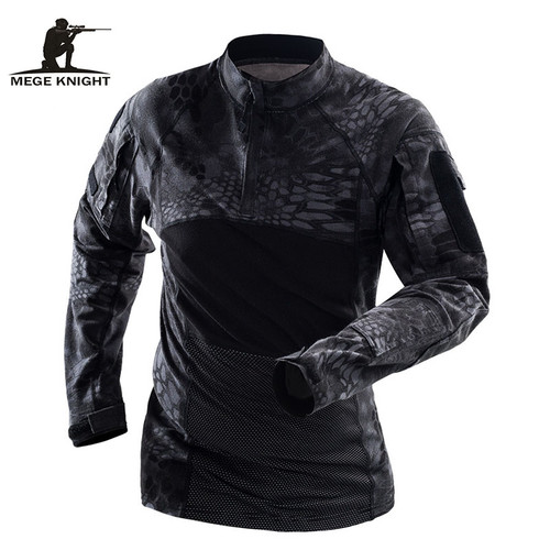 Mege Brand Military Tactical Clothing Camouflage Men Army Long Sleeve Soldiers Combat Airsoft Uniform Multicam Shirt