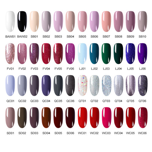 BORN PRETTY  48 Colors Peel Off Nail Polish Lacquer Art Decoration Sequins Colorful Fast Dry Nail Art Design Manicure Varnish