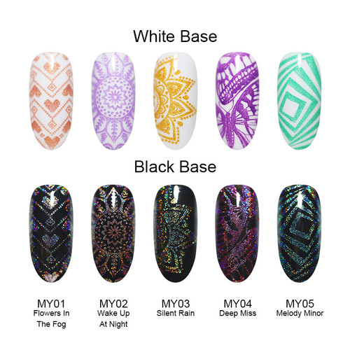 BORN PRETTY 6ml Holographic Stamping Polish Holo Laser Nail Art Plate Printing Polish Manicure Design