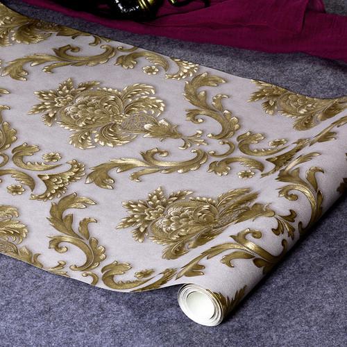 Classic Luxury Damask Wallpaper Roll 3D Embossed PVC Vinyl Wall Paper Home Decor Living Room Bedroom Backdrop Papel De Parede 3D